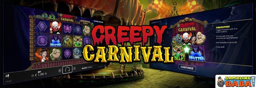 creepy carnival banner