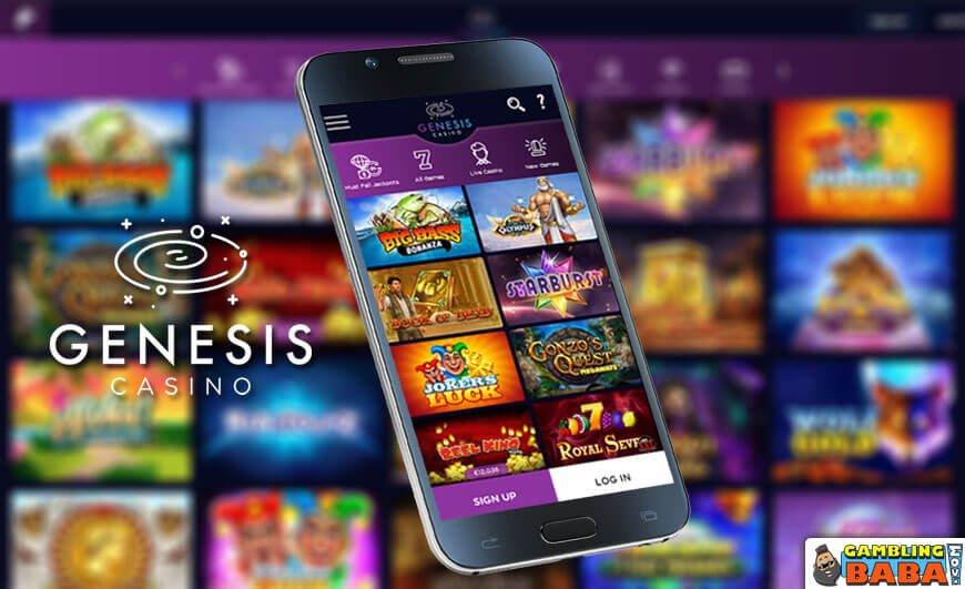 genesis casino slots lobby