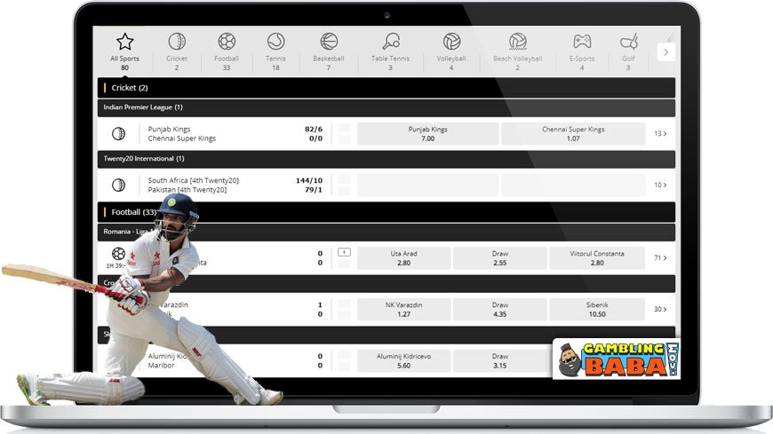 10cric has a great sportsbook with lots of odds