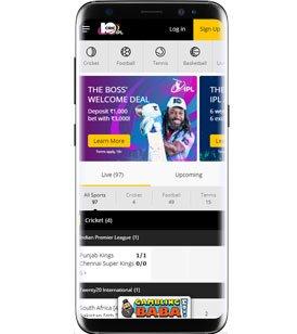 10crics homepage on mobile