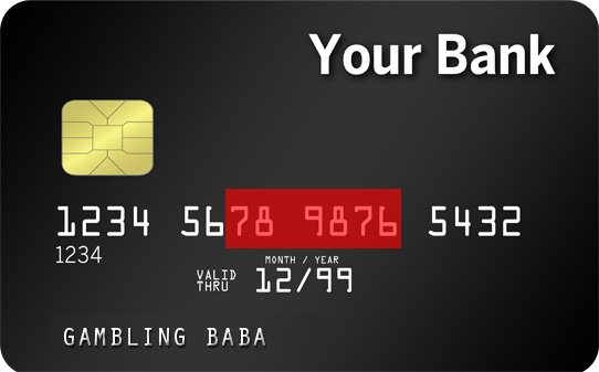 credit card front with covered numbers