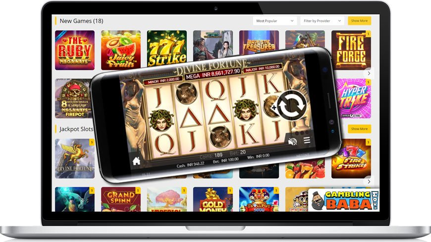 You can play slots on both Desktop and Mobile devices