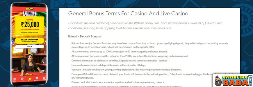 How a bonus and wagering requierment can be presented