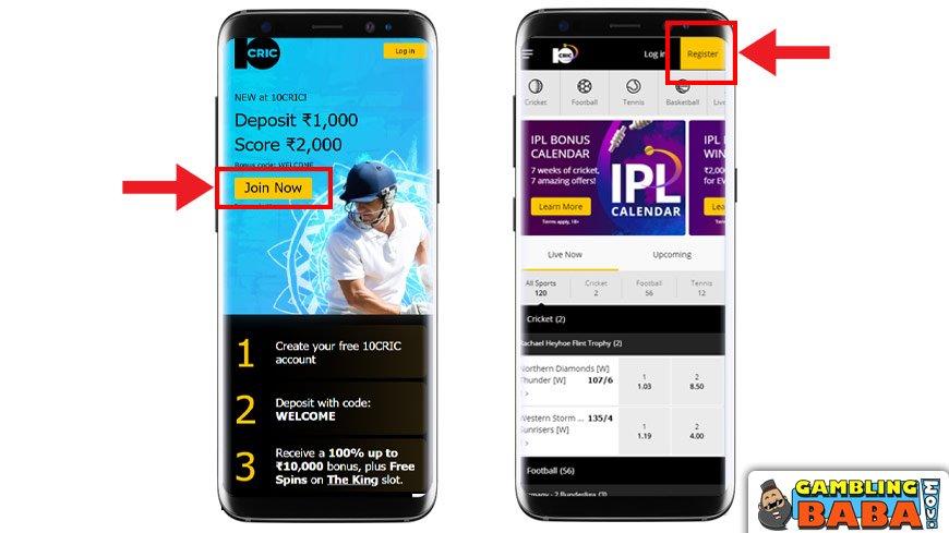 How to create an betting account