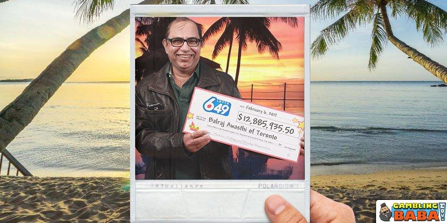 Balraj Awasthi - Kemenangan $ 12,8 Juta dalam Lotto 6/49