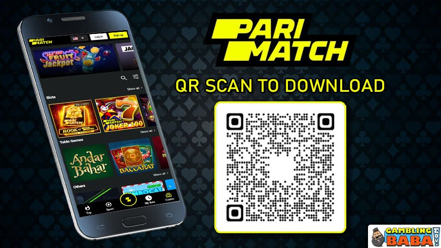 Scan the QR code to download Parimatch mobile app