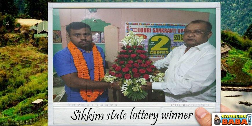 A happy Sikkim lottery winner