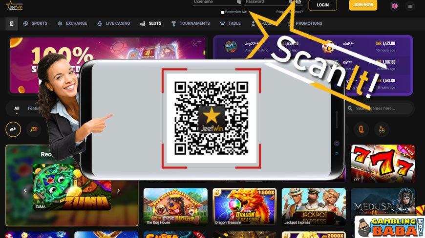 Jeetwin QR code for casino app download