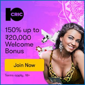 Join 10cric casino for an awesome welcome bonus
