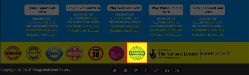 Bhagyalakshmi lottery is using a fake approval sigil
