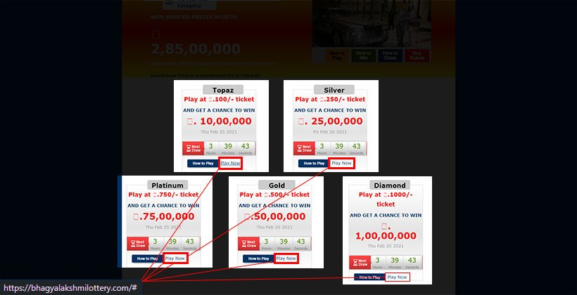 Bhagyalakshmi lottery is using fake purchase links
