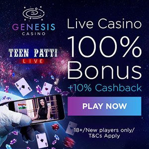 Join Genesis casino for an awesome welcome bonus