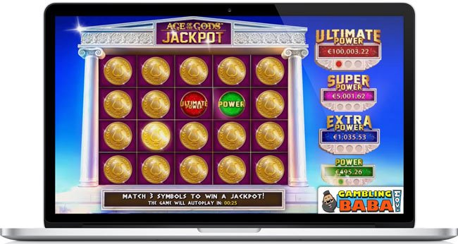 Age of the Gods jackpot bonus feature