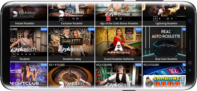 Play live dealer roulette in India