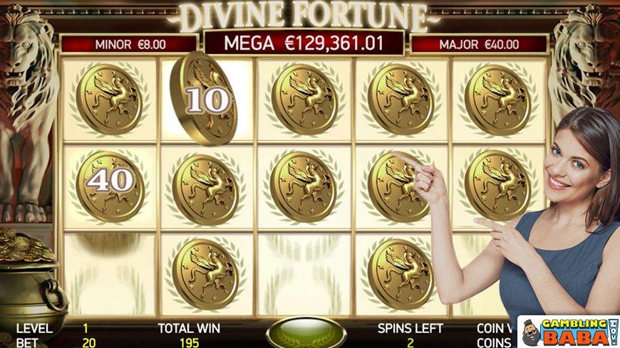 Divine Fortune jackpot round
