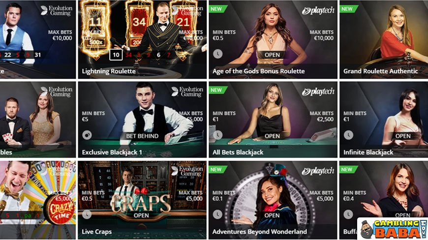 Play your Favorite live dealer game