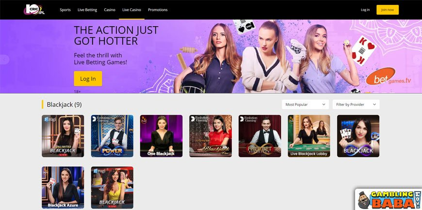 Play live roulette with dealers online at 10cric
