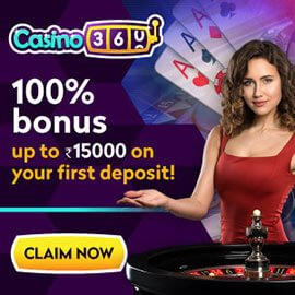 Casino360 welcome bonus