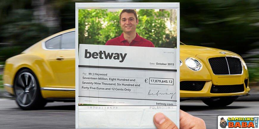 1. Jon Heywood£13.2 Million Win on mega moolah