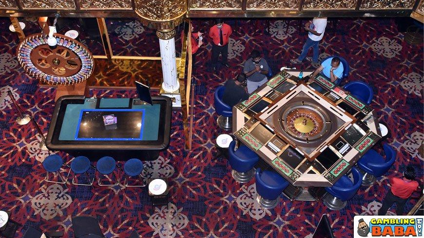 Bird view of the gambling hall