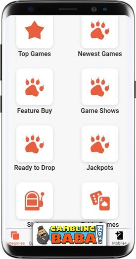 Select your game category to find a game to play