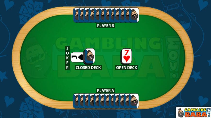 Step 1. Showing the rummy table
