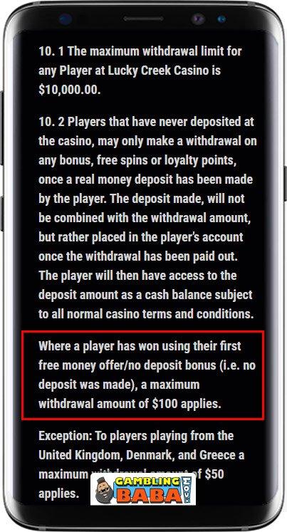 no deposit bonus terms withdrawal