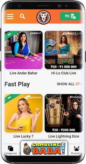 play casino games directly from your mobile at LeoVegas