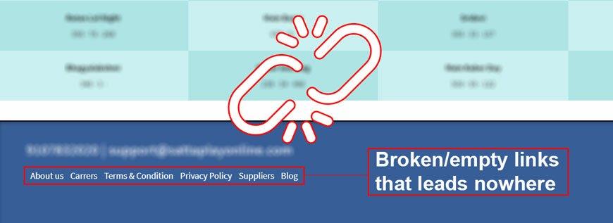 broken links are a sign of mistrust