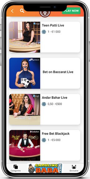 Play live casino games at leovegas