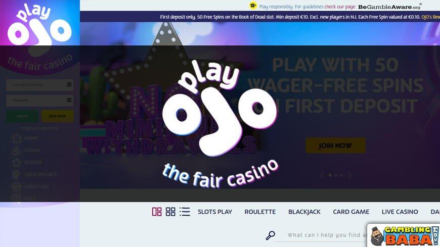 Play online casino at playojo