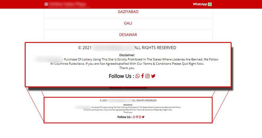 shady disclaimer of a satta matka site