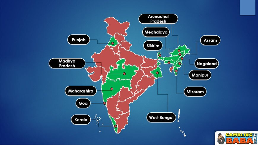legal government lottery India states map
