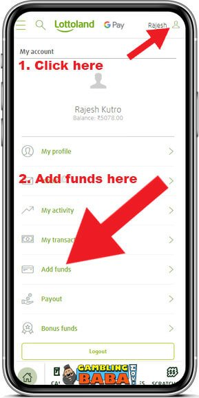 3. Add funds to your account